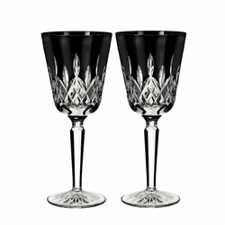 Lismore Black Goblet Pair by Waterford
