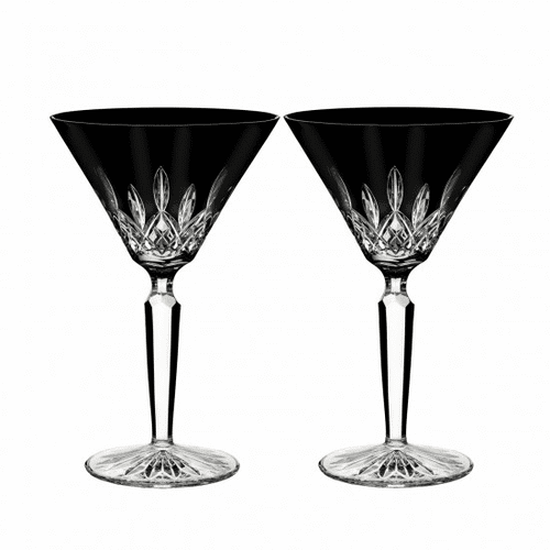 Lismore Black Martini Pair by Waterford