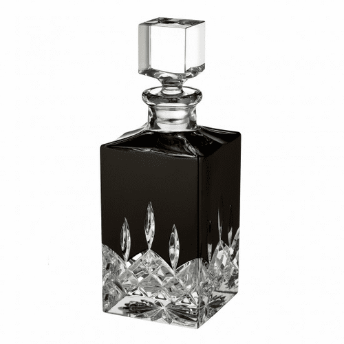 Lismore Black Square Decanter by Waterford