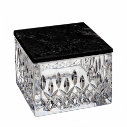 Lismore Covered Box with Marble Lid by Waterford