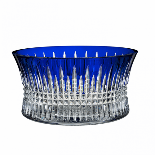 "Lismore Diamond 10"" Cobalt Bowl by Waterford"