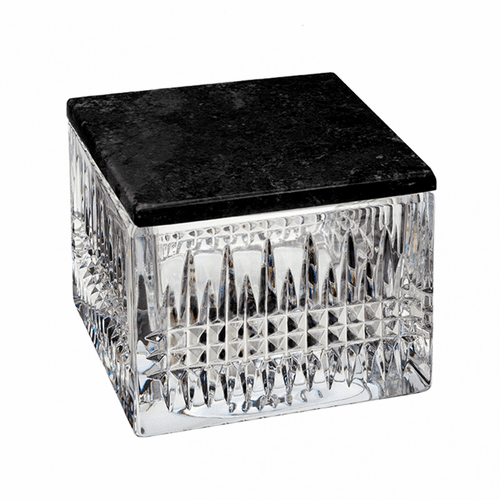 Lismore Diamond Covered Box with Marble Lid by Waterford