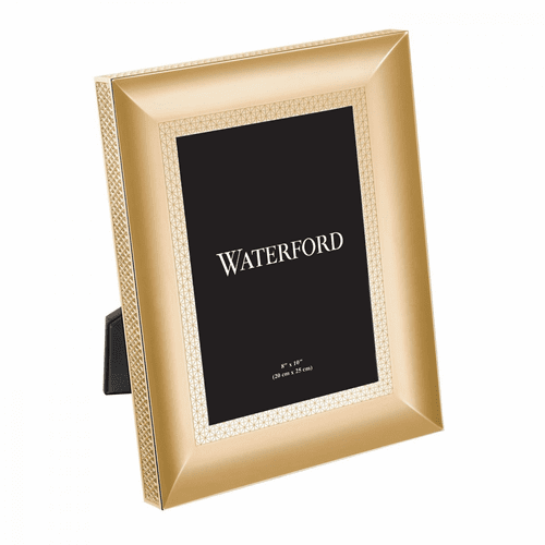 """Lismore Diamond Gold 8x10"""" Frame by Waterford"""