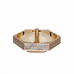 Lismore Diamond Gold Ring Holder by Waterford