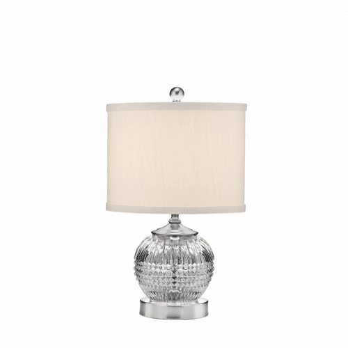 "Lismore Diamond Satin Nickel 15"" Mini Accent Lamp by Waterford"