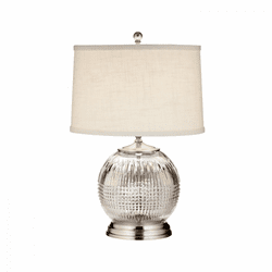 "Lismore Diamond Satin Nickel 21.5"" Table Lamp by Waterford"