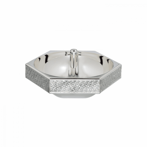 Lismore Diamond Silver Ring Holder by Waterford