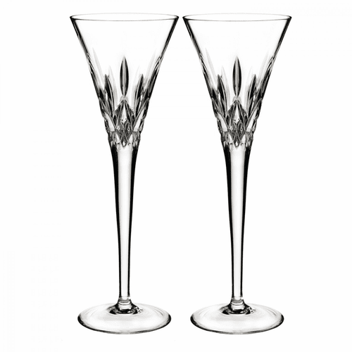 Lismore Pops Clear Flute Pair by Waterford