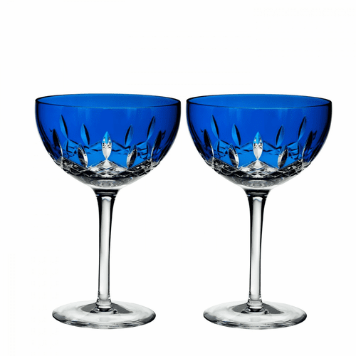 Lismore Pops Cobalt Cocktail Pair by Waterford