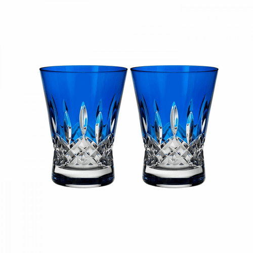 Lismore Pops Cobalt Double Old Fashioned Pair by Waterford