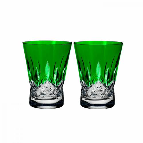 Lismore Pops Emerald Double Old Fashioned Pair by Waterford