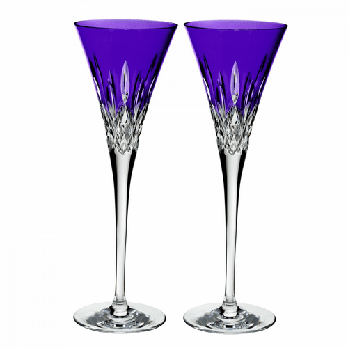 Lismore Pops Purple Flute Pair by Waterford