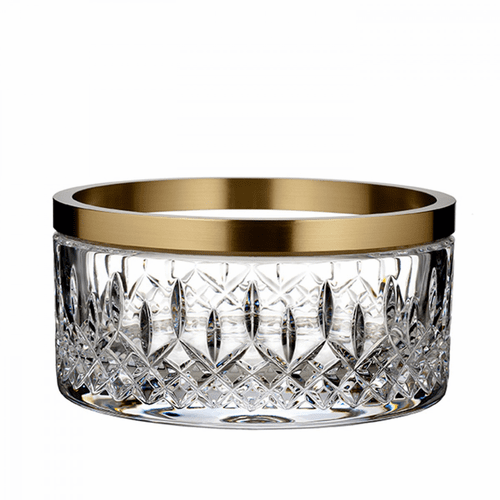 """Lismore Reflection 8"""" Bowl with Gold Band by Waterford"""