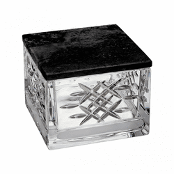 Lismore Revolution Covered Box with Marble Lid by Waterford