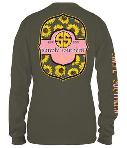 Live Life In Full Bloom Moss Long Sleeve Tee by Simply Southern