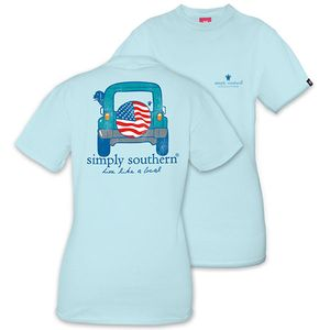 Live Like a Local Four by Four Unisex Short Sleeve Tee by Simply Southern