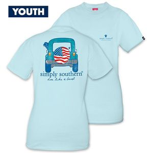 Live Like a Local Four by Four YOUTH Unisex Short Sleeve Tee by Simply Southern