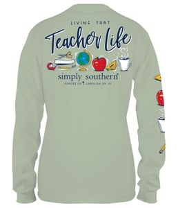 Living That Teacher Life Hazel Long Sleeve Tee by Simply Southern