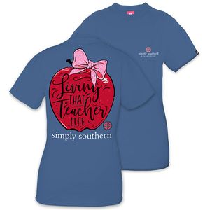Living That Teacher Life Short Sleeve Tee by Simply Southern