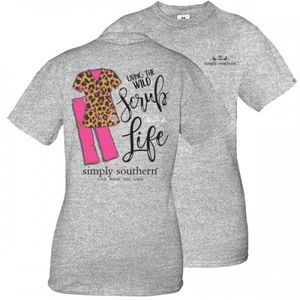 Living The Wild Scrub Life Short Sleeve Tee by Simply Southern