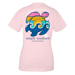 Lulu Save the Turtles Waves Short Sleeve Tee by Simply Southern