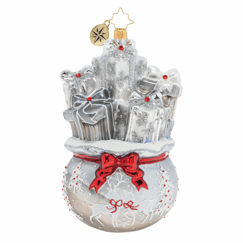 Lustrous Bag of Goodies Ornament by Christopher Radko