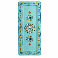 """Madrid Turquoise 18"""" x 7"""" Rectangle Platter (Without Utensils) by Le Cadeaux"""