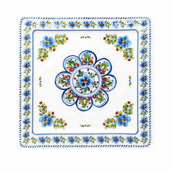 "Madrid White 11"" Square Platter by Le Cadeaux"