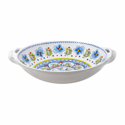"Madrid White 13"" Large Two-Handled Bowl by Le Cadeaux"