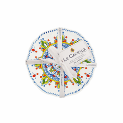 Madrid White Appetizer Plates (Set of 4) by Le Cadeaux
