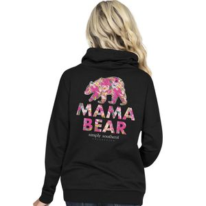 Mama Bear Black Cowl Neck Pullover by Simply Southern