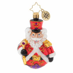 Man Or Mouse, Nutcracker? Gem Ornament by Christopher Radko