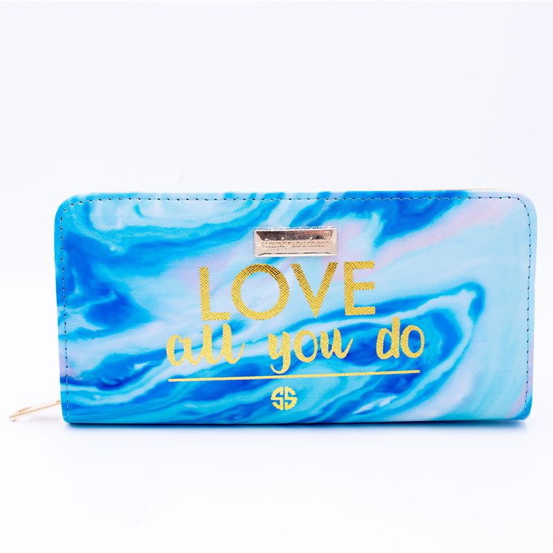 Simply Southern Marble Blue Love All Wallet