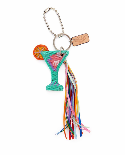 Martini Celebration Charm & Keychain by Consuela