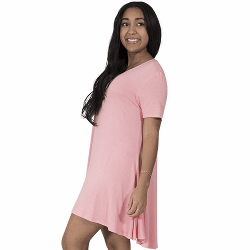Medium Coral Short Sleeve Tunic by Simply Southern