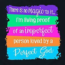 Medium Imperfect Person, Perfect God Tee by Emory Lane