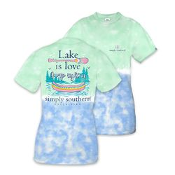 Medium Lake is Love Jump Right In Short Sleeve Tee by Simply Southern