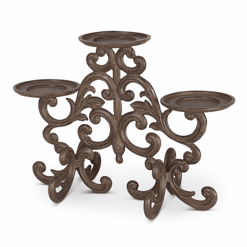 Metal Acanthus Leaf Candle Holder - GG-Collection