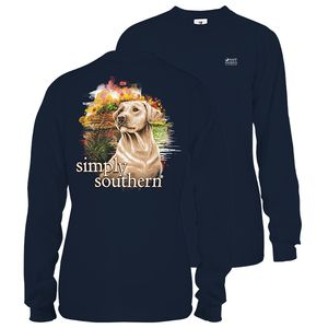 Midnight Blue Yeller Lab Unisex Long Sleeve Tee by Simply Southern