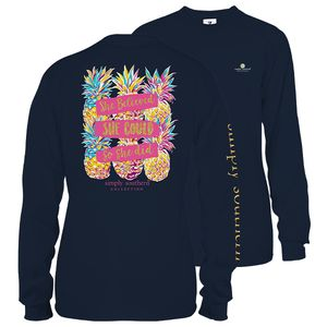 Midnight She Could So She Did Long Sleeve Tee by Simply Southern