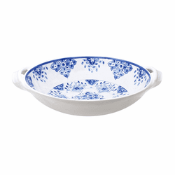 "Moroccan Blue 13"" Large Two-Handled Bowl by Le Cadeaux"