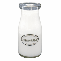 Moroccan Mint 8 oz. Milkbottle Candle by Milkhouse Candle Creamery