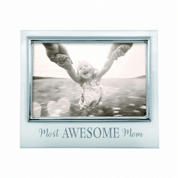 "Most Awesome Mom 4x6"" Signature Frame by Mariposa"