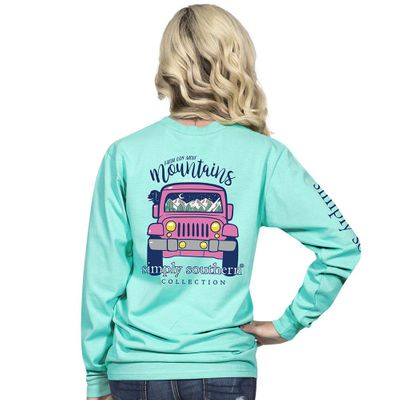 Mountain Aruba Long Sleeve Tee by Simply Southern