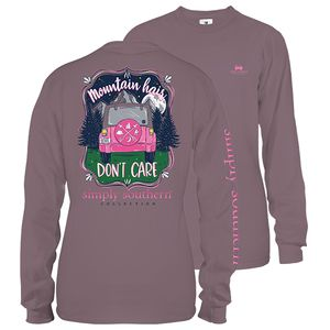 Mountain Hair Plum Long Sleeve Tee by Simply Southern