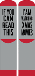 Movies Nonslip Holiday Socks by Simply Southern