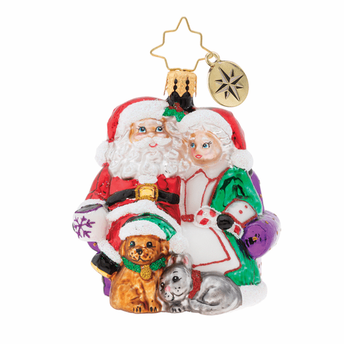 Mr. & Mrs. Clause Pause Gem Ornament by Christopher Radko