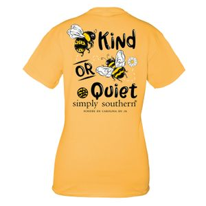 Mustard Bee Quiet Short Sleeve Tee by Simply Southern
