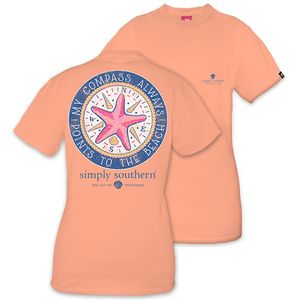 My Compass Always Points to the Beach Short Sleeve Tee by Simply Southern