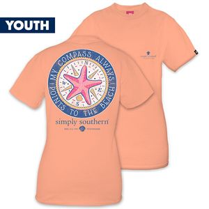 My Compass Always Points to the Beach YOUTH Short Sleeve Tee by Simply Southern